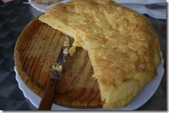 Spanish tortilla of egg and potato, Spain food
