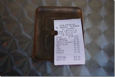 La cuenta por favour - the bill please - Spain food
