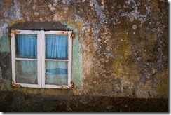 Villgae window - Walking Camino de Santiago from Sarria, Spain