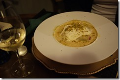 Lasagne and white wine -  Spain food