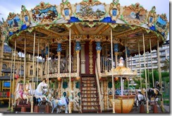 Merry-go-round along Playa (Beach) in San Sebastian, Spain