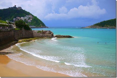 Playa in San Sebastian, Spain