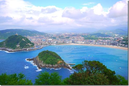 View of San Sebastian from Monte Igeldo, Spain