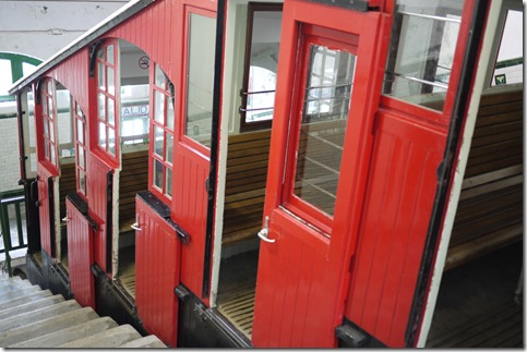 Funicular in San Sebastian up to Monte Igeldo, Spain