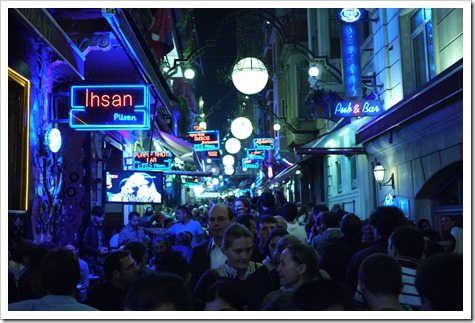 Night streets of Istanbul, Turkey