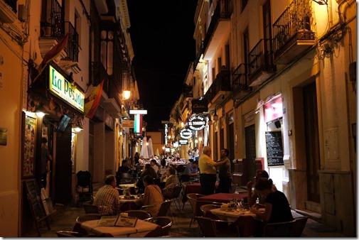 Night walking in Ronda, Spain