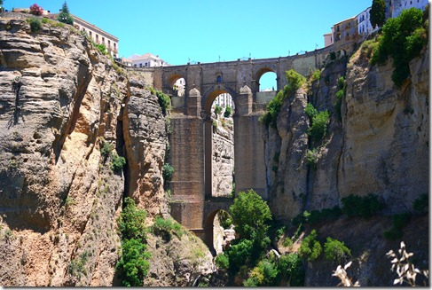The new bridge in Ronda, Spain