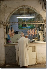 Markets, old men & chickens, Tangier, Morocco
