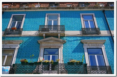 Colourful tiled houses of Lisbon, Portugal