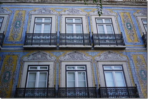 Colourful tiles in Lisbon, Portugal