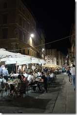 Perugia historical centre by night