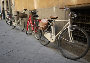 Bicycles in Lucca Tuscan Italy