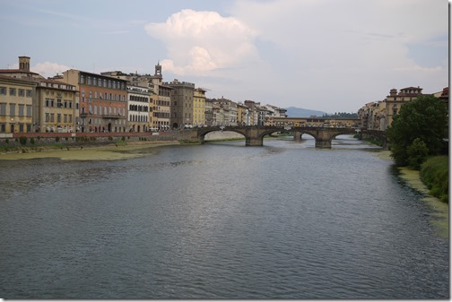 River Arno and bridges Florence, Tuscany Italy