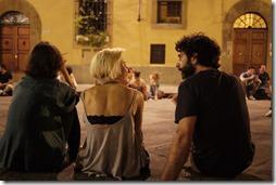 Piazza Santo Spirito Florence, Tuscany Italy
