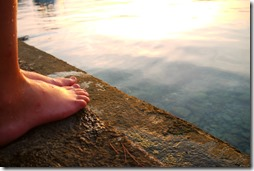 Swimming in Adriatic Sea on Lošinj Island, Croatia
