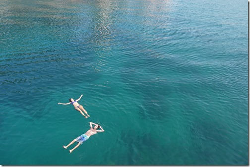 Floating in the Adriatic Sea off Lošinj Island, Croatia