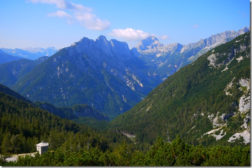 View from Vrsic Mountain Pass, Triglav National Park, Bled, Slovenia