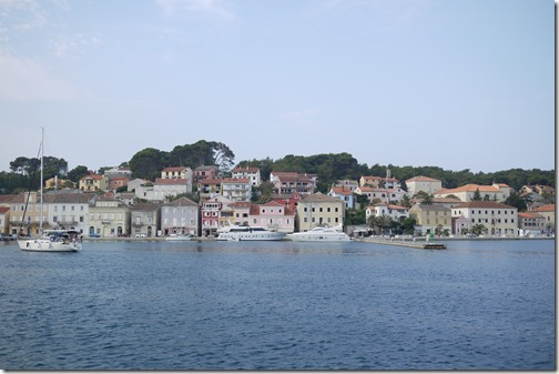 Mali Lošinj port in the Adriatic Sea on Lošinj Island, Croatia