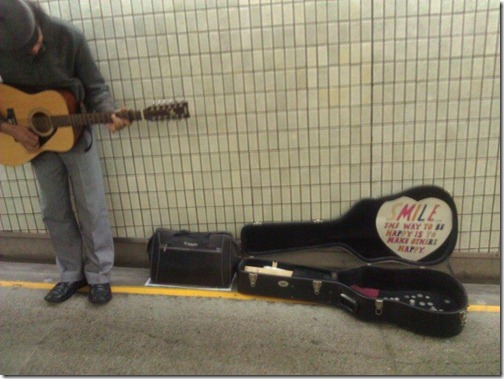 Central station busker 29 Aug