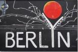 Berlin title as part of street art at East Side gallery
