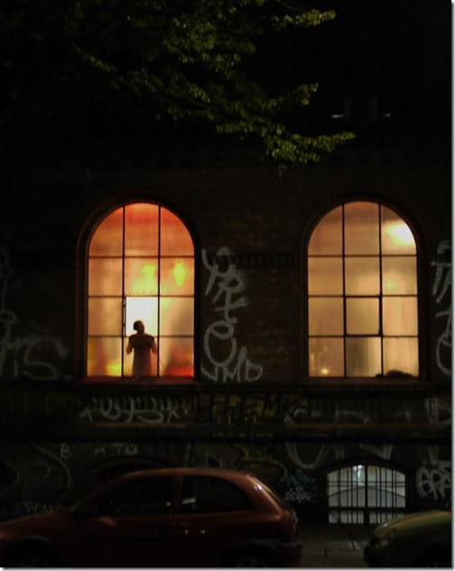 Berlin window at night in Kreuzberg