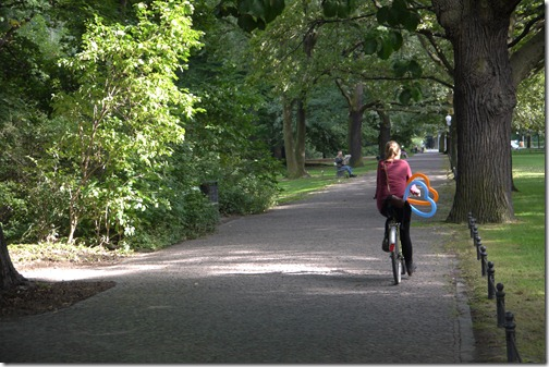 Cycling in Tiergarten, Berlin