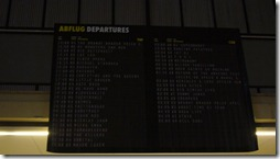 Tempelhof - arrivals board for artists