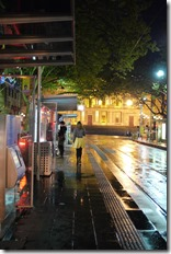 Catching a tram a night - Melbourne CBD