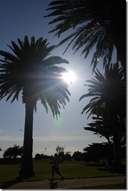 Running in St Kilda Melbourne Australia