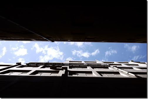 Blue sky Melbourne CBD
