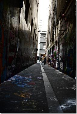 Laneway street art in Melbourne CBD