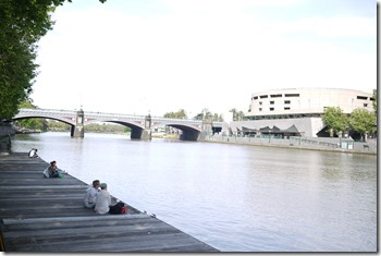 Sitting along the Yarra River in Melbourne CBD