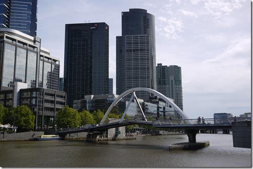 Yarra River views in Melbourne CBD