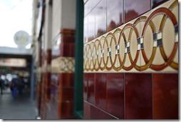 Old pub tiles in Melbourne
