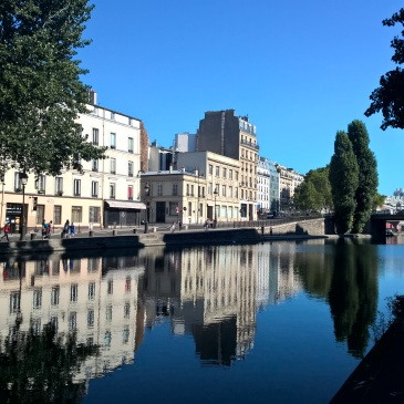 Canal Saint Martin in the morning sun Paris