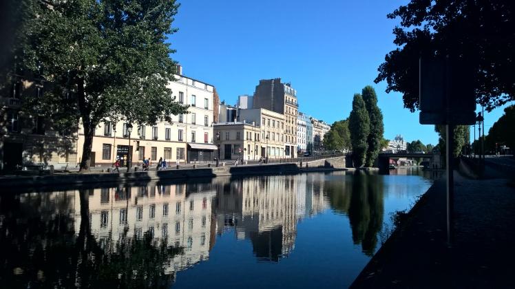 Canal Saint Martin in the morning sun Paris