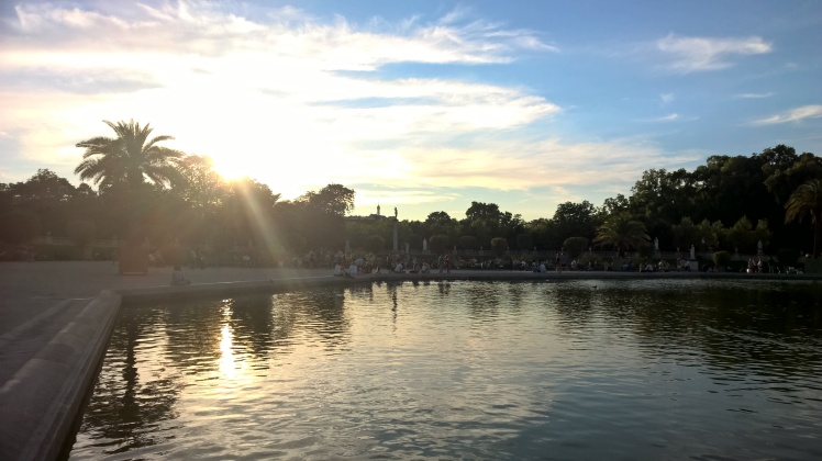 Jardin du Luxembourg Paris at sunset August