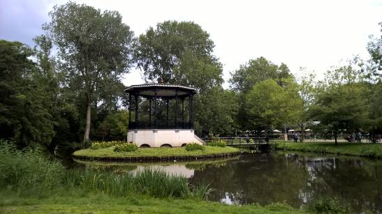 Vondelpark Amsterdam Netherlands in sun